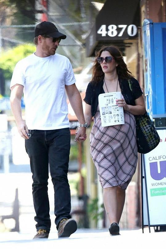 Drew Barrymore a její muž Will Kopelman.