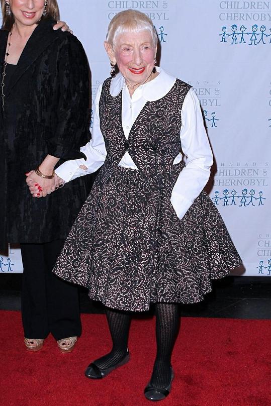 Sympatická maminka Stevena Spielberga dorazila na charitativní událost v New Yorku.