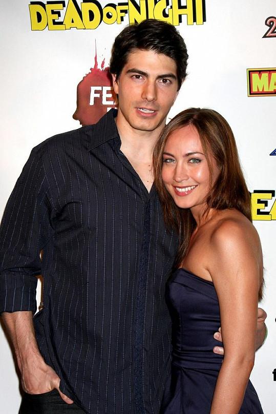 Představitel filmového Supermana Brandon Routh a jeho žena Courtney Ford mají chlapečka.