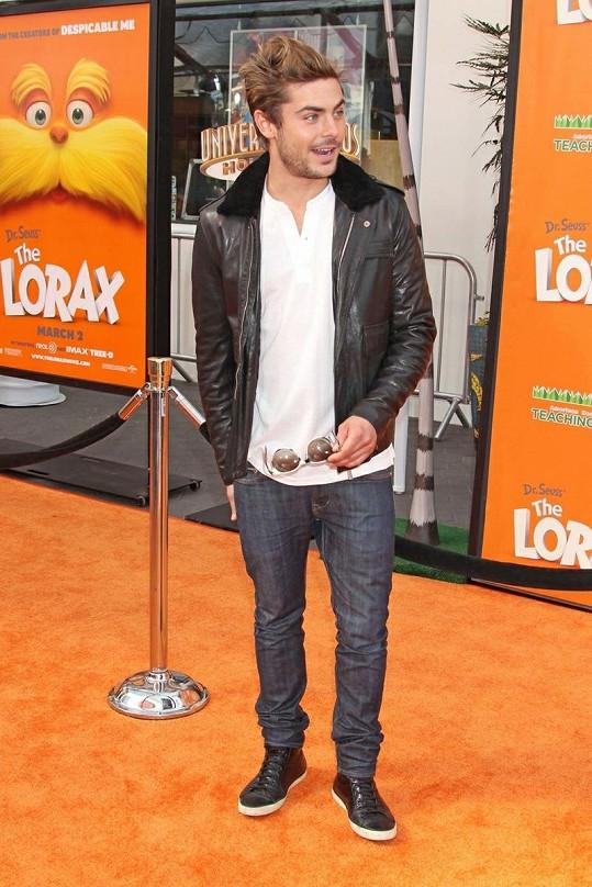 Zac Efron na premiéře filmu Dr. Seuss´ The Lorax.