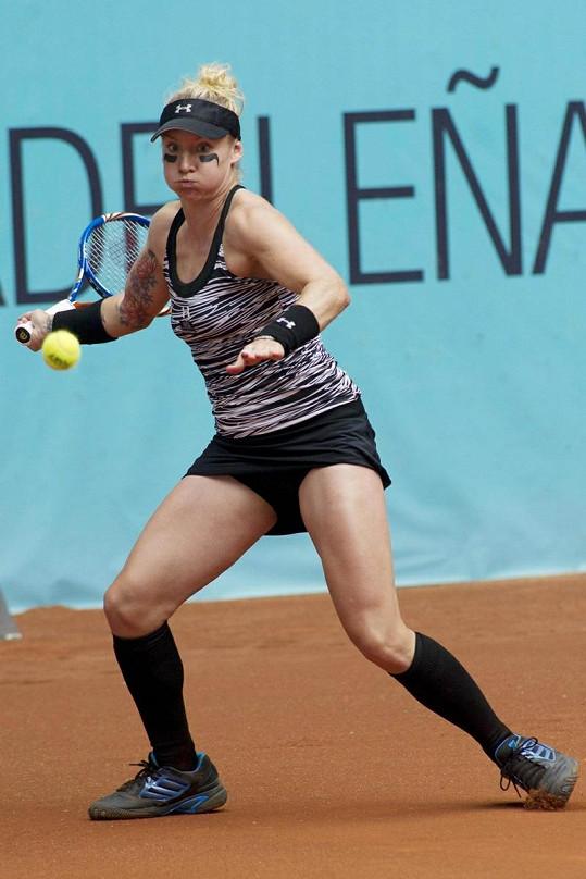Americká tenistka během zápasu.