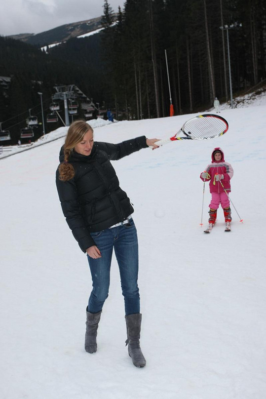 Na otevření lyžařské sezóny nechyběla ani Petra Kvitová.