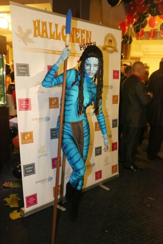 Andrea Verešová jako kráska z filmu Avatar.