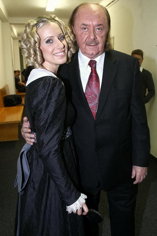Tereza s partnerem Františkem Janečkem.