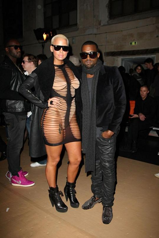 Amber v lednu 2010 s Kanye Westem.