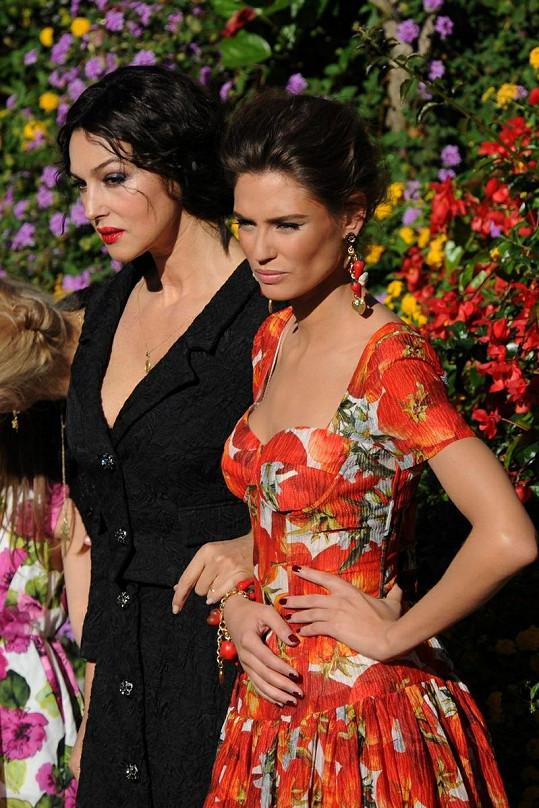 Monica s italskou modelkou Biancou Balti.