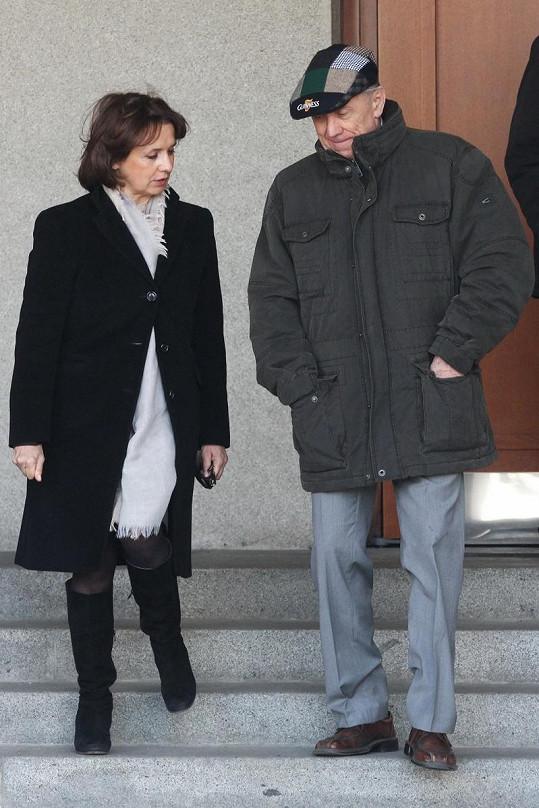 Veronika Freimanová s Petrem Kostkou.