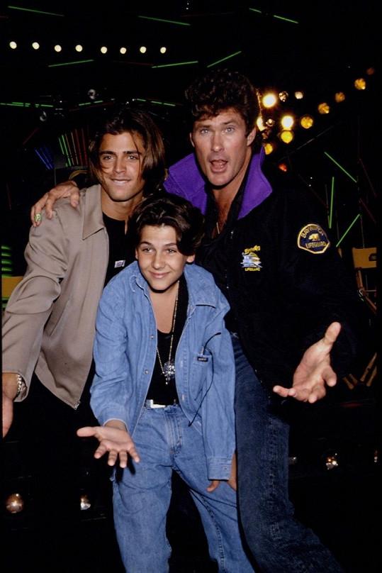 David Charvet, Jeremy Jackson a David Hasselhoff.