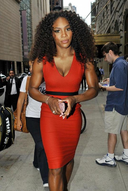 Serena Williams je připravena vystoupit v Late Show with David Letterman.