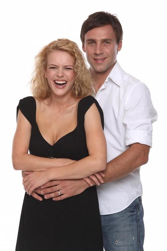 Andrea a Roman alias seriáloví manželé Dvořákovi.