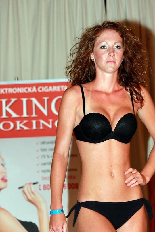 Jana Kvardová na egyptské módní show.
