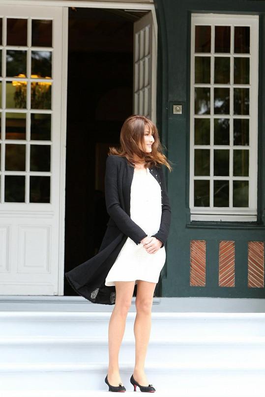 Carla Bruni v Deauville.