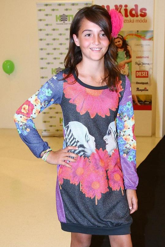 Jessica Gavriely poprvé v roli modelky.