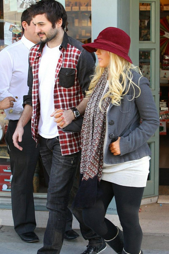 Aguilera si oblíbila nošení legín.