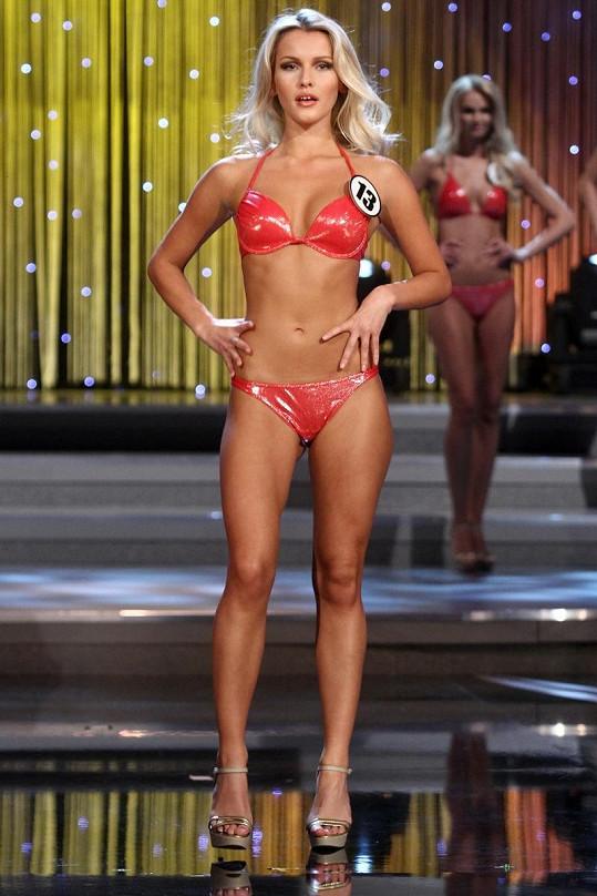 Linda Bartošová na finále soutěže Česká Miss