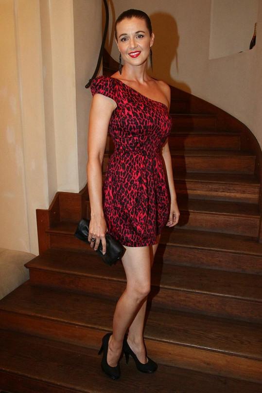 Iva Kubelková na párty Cesty domů.