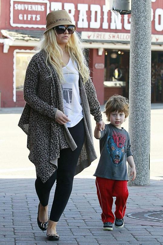 Christina se synem Maxem.