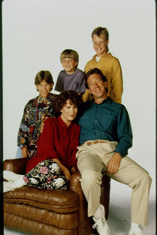 Seriálová rodinka pohromadě.