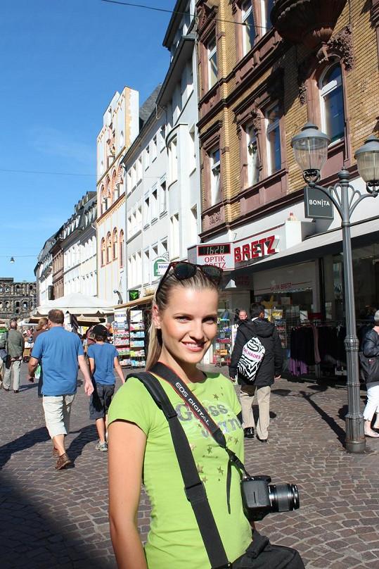 Veronika si Porýní užila i jako klasická turistka.