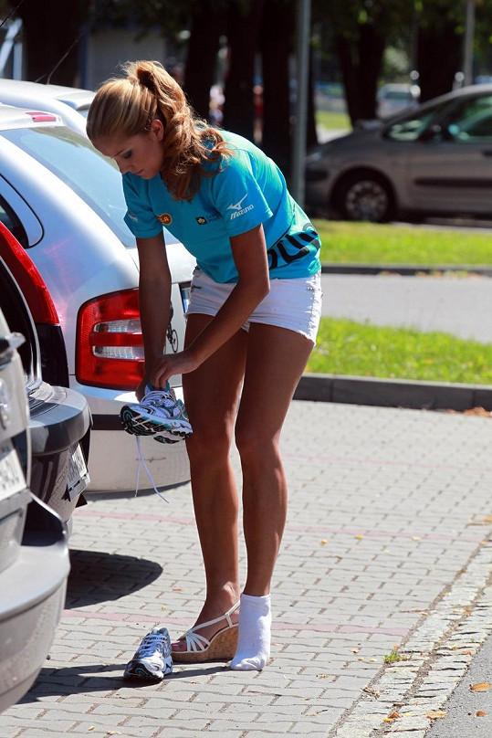 Cojocarová se umí převléknout do sportovního během půl minuty.