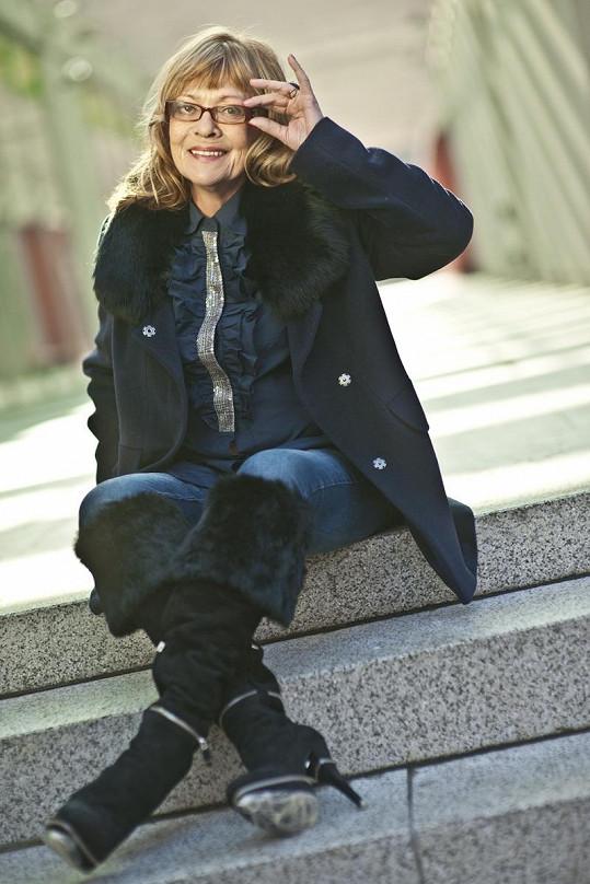 Jana Šulcová v roli modelky