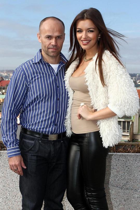 Jitka s přítelem Mirkem.
