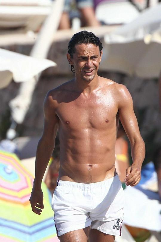 Přítelem krásné modelky je italský fotbalista Filippo Inzaghi.