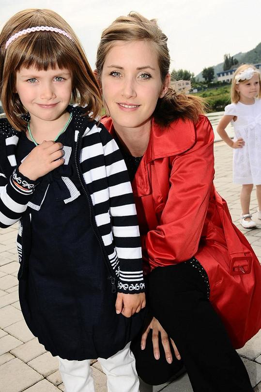 Herečka Jana Bernášková s dcerou Justýnou