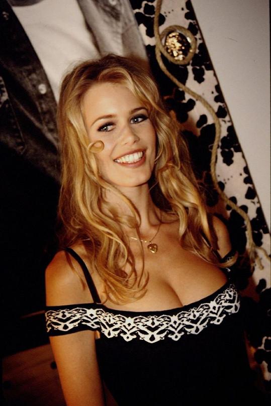 Takto vypadala Claudia v době, kdy ji kampaň pro Guess proslavila.