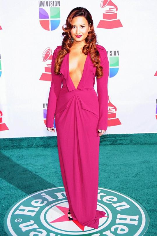 Lovato na předávání cen Latin Grammy v Las Vegas.