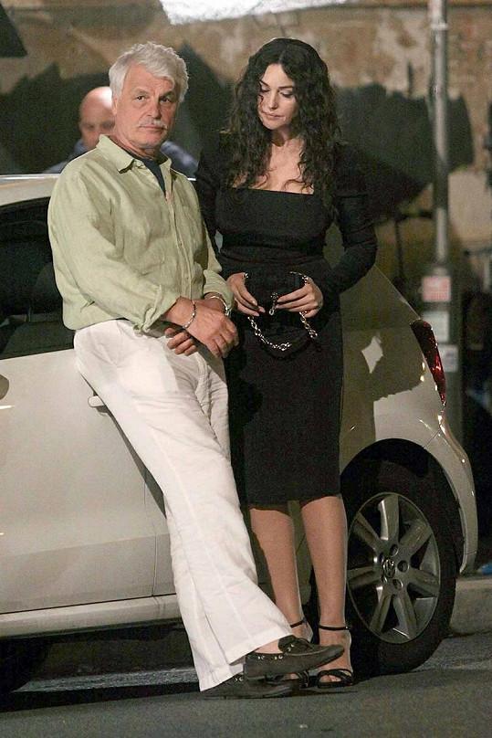 Placido během loňského natáčení filmu Manuale d'amore 3 s Monicou Belluci.