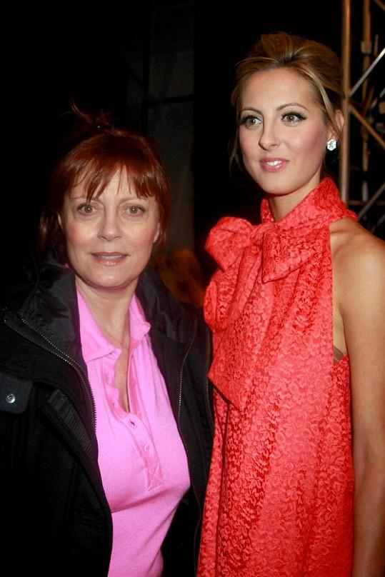 Herečka Susan Sarandon s dcerou Evou.