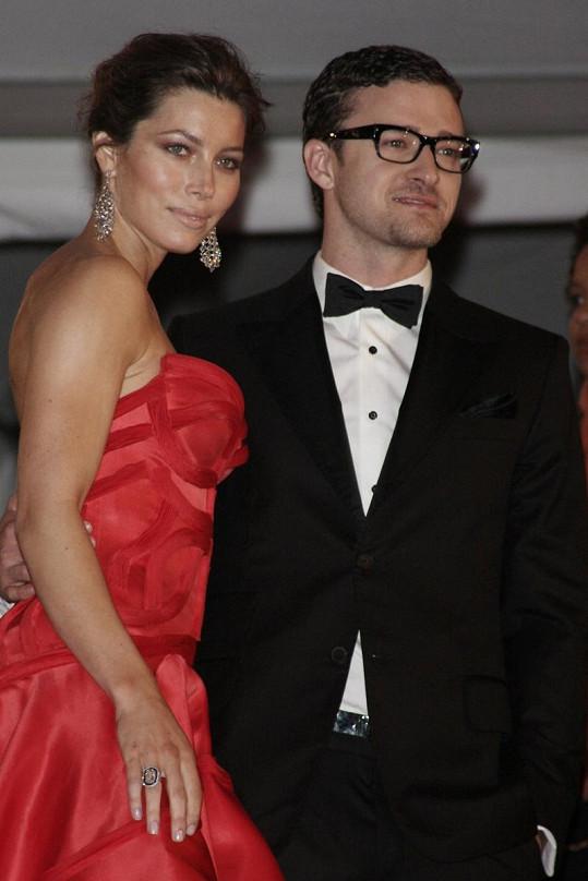Justin Timberlake a Jessica Biel.
