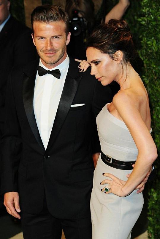 Victoria Beckham s manželem Davidem.