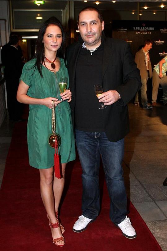 Sandra Nováková s přítelem Janem Nejedlým.