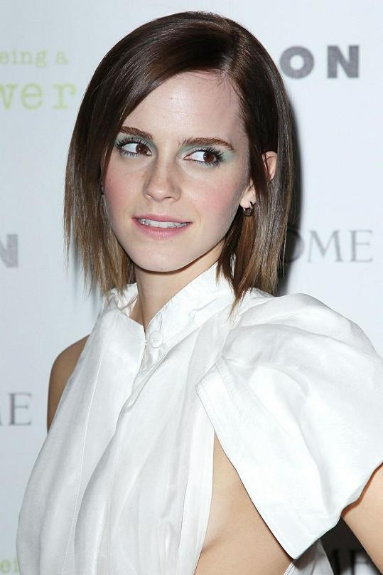 Emma Watson se ani po minulé zkušenosti nezdráhala vzít odvážně střižené šaty.