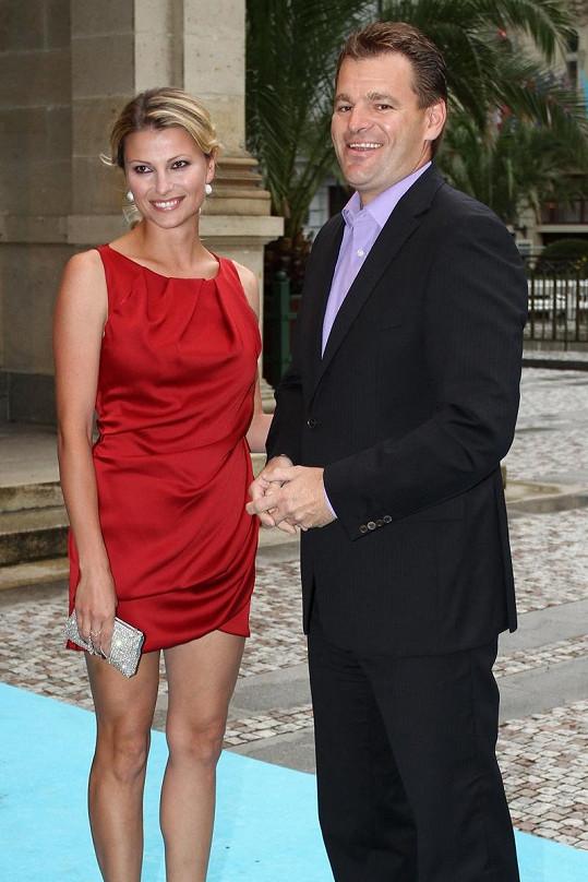 Jitka Kocurová s manželem Tomášem Abrahamem.