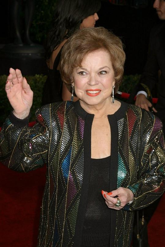 Shirley Temple před pár lety na SAG Awards v Los Angeles.