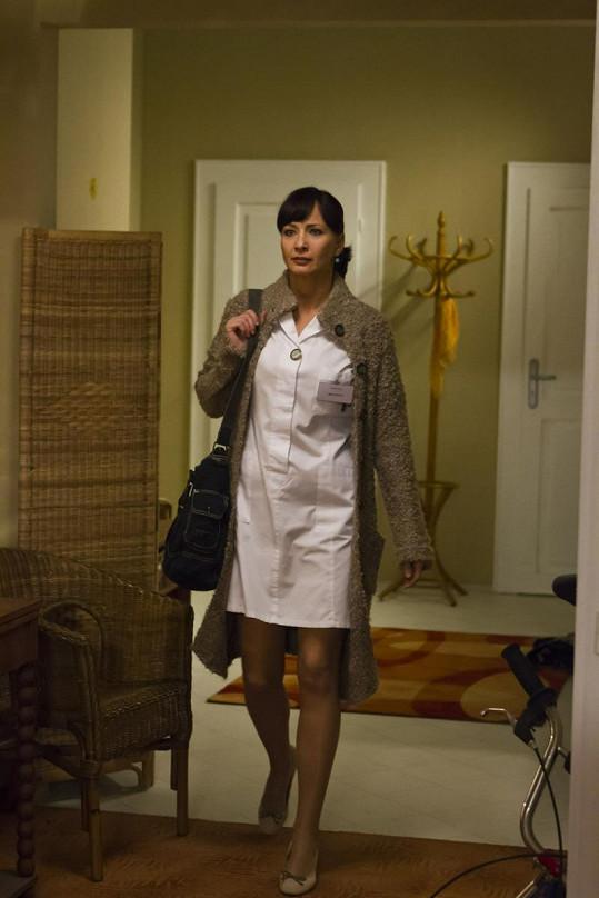 Daniela ve své nové seriálové roli.
