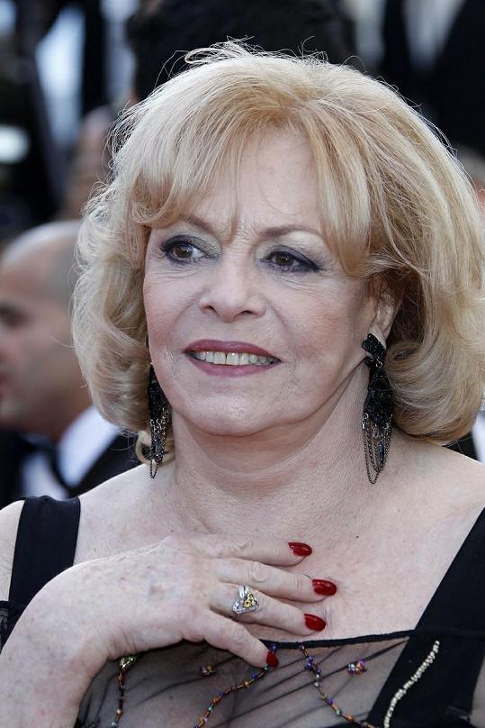 Michèle Mercier v Cannes.