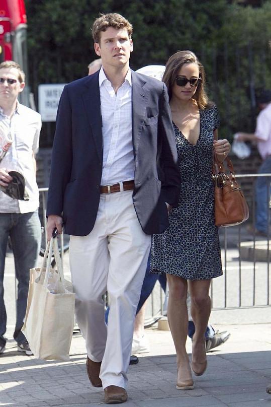 Pippa Middleton a Alex Loudon v Londýně.