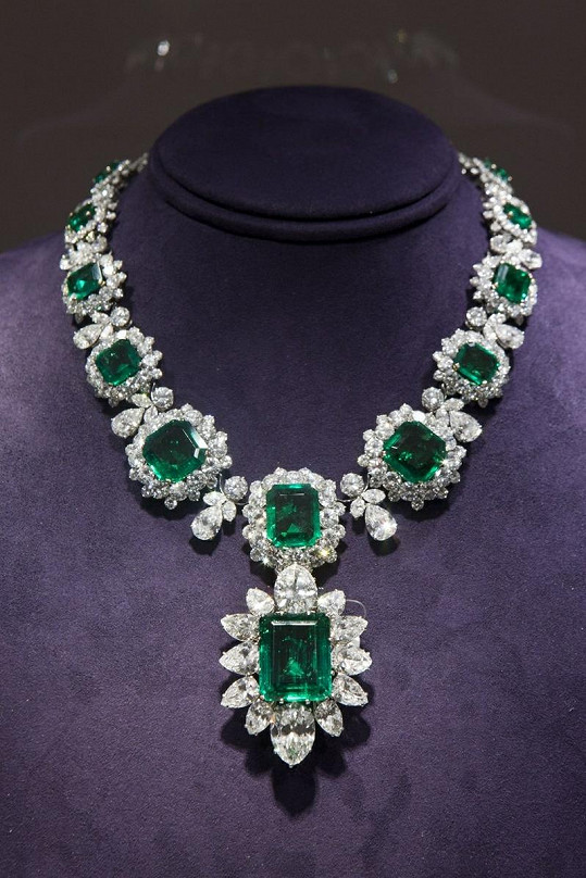 Šperk z pozůstalosti herečky Elizabeth Taylor.
