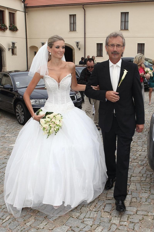 Iveta Lutovská s tatínkem