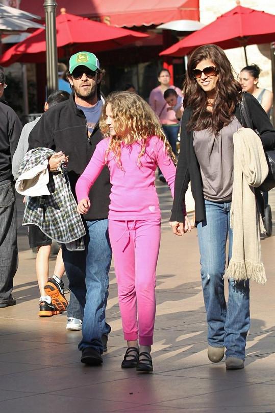 Luke s přítelkyní a dcerou Sophií.