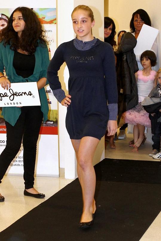 Jessica Šlégrová byla hvězdou dětské módní show.