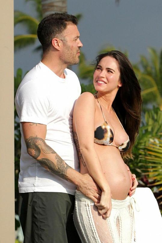 Šťastní manželé Brian Austin Green a Megan Fox se na společného potomka moc těšili.