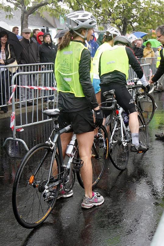 Pippa Middleton na kole.