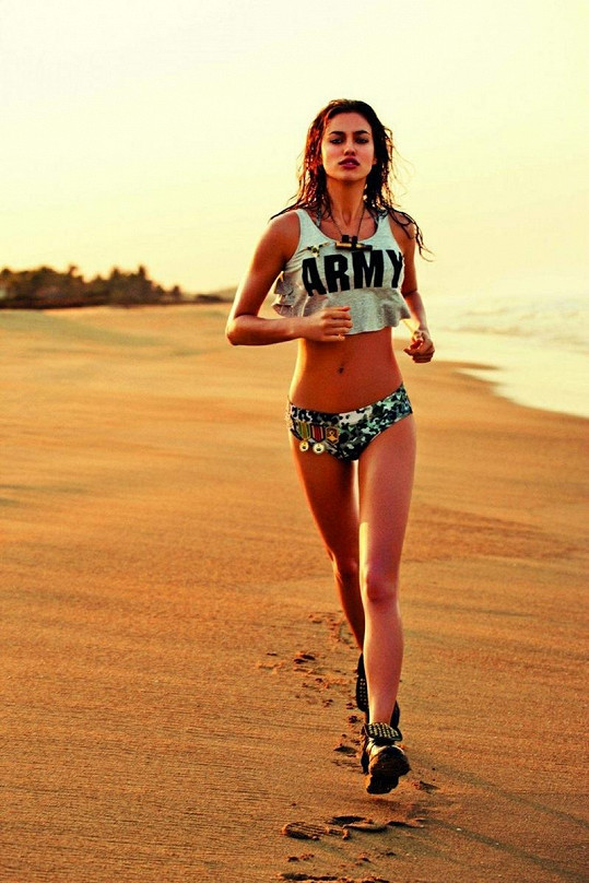 Sport Irina miluje. Snaží se cvičit třikrát týdně.