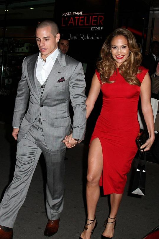 Jennifer Lopez s Casperem Smartem.