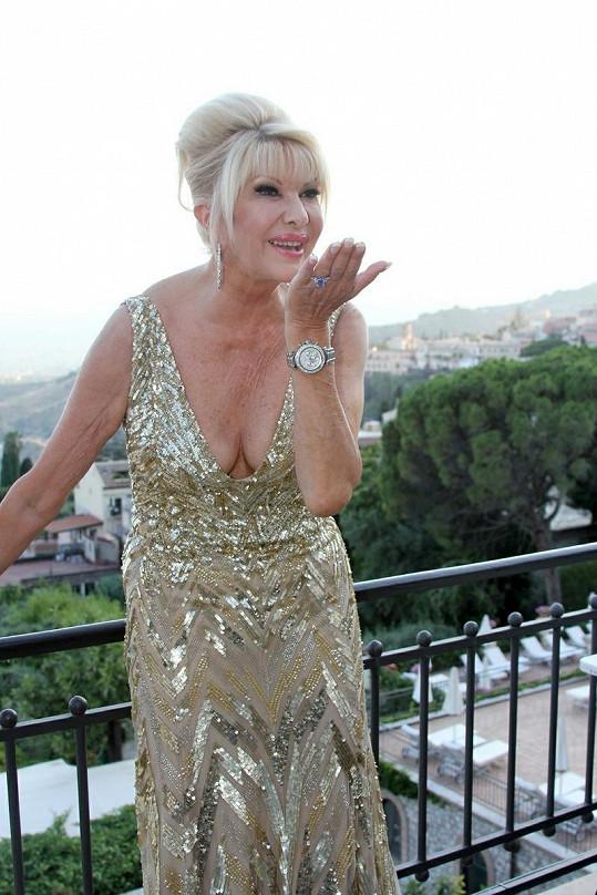 Ivana Trump v Itálii.